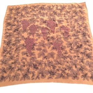 Hanae Mori Paris Scarf Wrap Poncho 5 Way Brown